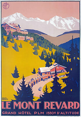 TX181 Vintage Le Mont-Revard French France Travel Tourism Poster Re-Print A4