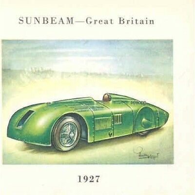 1927 Sunbeam World Speed Record Car Cigarette Card po1343-C1XUM7