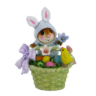 WEE BUNNY's BASKET by Wee Forest Folk, WFF# TM-5, Tiny Mice Series