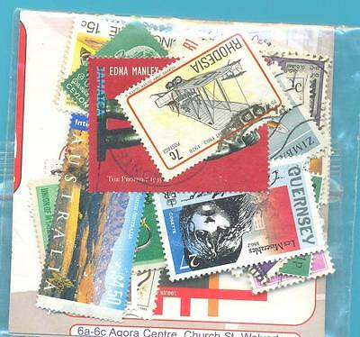 A SMALL COLLECTION OF WORLD STAMPS IN PACKET.(ref.226)USED