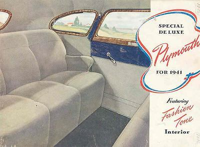 1941 Plymouth Special Deluxe Brochure 51073-UTFELQ