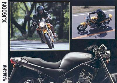 1994 Yamaha XJ600N Motorcycle Brochure Germany 55275-VP85MU