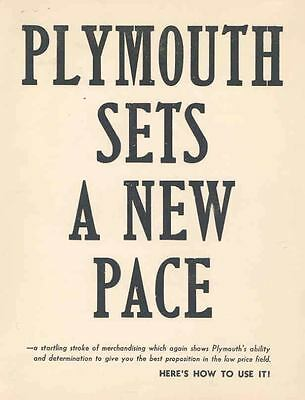 1932 Plymouth Brochure Sets A New Pace 62266-VACILM