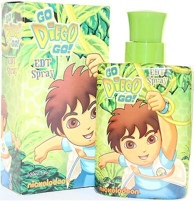 Go Diego Go! For Kid's 3.4 Oz Edt Spray By Nickelodeon & New In A Box