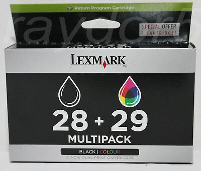 LEXMARK 28 + 29 Black & Colour New Genuine Lexmark X & Z Series Ink Cartridges