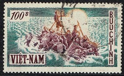 VIETNAM (SOUTH), 1955 100p 'Refugees' top value, VF used, SG#S10