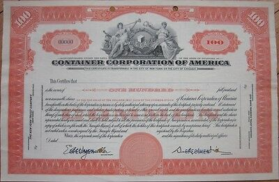 1940s SPECIMEN Stock Certificate: 'Container Corporation of America' - AMBN