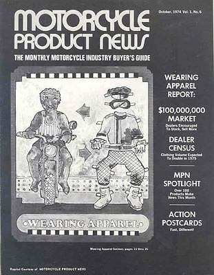 1974 Motorcycle Product News Apparel Brochure 67032-UWMGRW