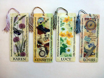 History & Heraldry 3D Personalised Bookmarks - Names: K - L