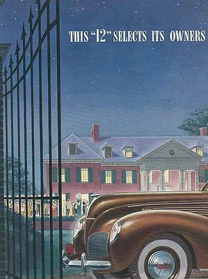1938 Lincoln Zephyr Brochure Poster wr0946-ZWSE2P