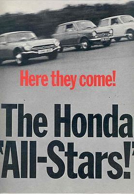 1967 Honda S800 Coupe N360 N600 Brochure Poster England wr1907-AZE54Y