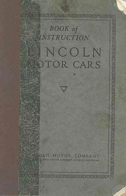 1925 Lincoln Owner's Manual wr3038-B77QPA