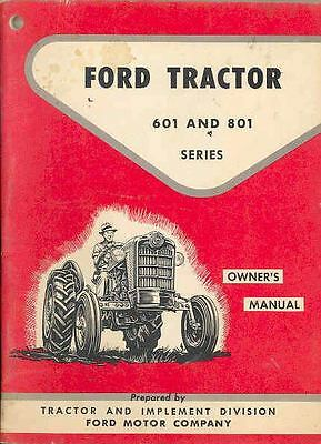1961 Ford 601 801 Tractor Truck Owner's Manual wr3408-9LMG24