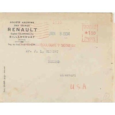 1934 Renault Factory Letter wr4513-E5A9NM