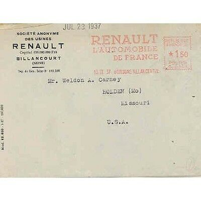 1937 Renault Factory Letter wr4517-53W23M