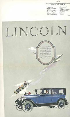1926 Lincoln Dietrich Sedan Factory Ad Proof Poster wr4691-5EZE1U