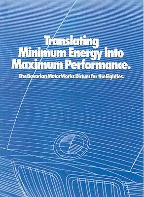 1981 BMW Motronic DME Features Brochure mw2224-LYVY98