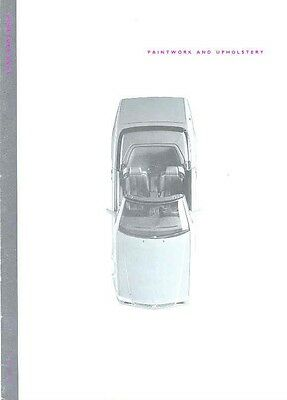 1992 Mercedes Benz Paint and Upholstery Sales Brochure mw2632-27BTMF