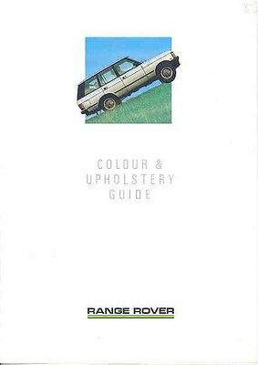 1987 Range Rover Color & Upholstery Sales Brochure mw2896-2HU931