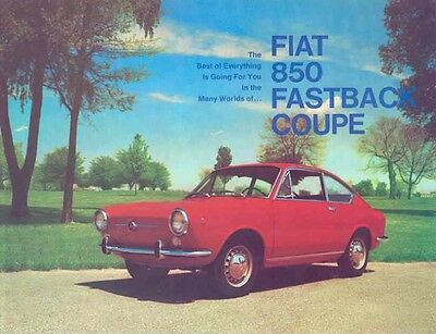 1967 Fiat 850 Fastback Coupe Sales Brochure mw2979-5AX7BF