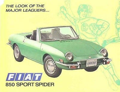 1973 Fiat 850 Sport Spider Sales Brochure mw3429-SRS6IN