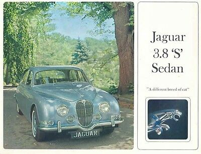 1965 Jaguar 3.8S Sedan Sales Brochure mw4404-WYQCHE