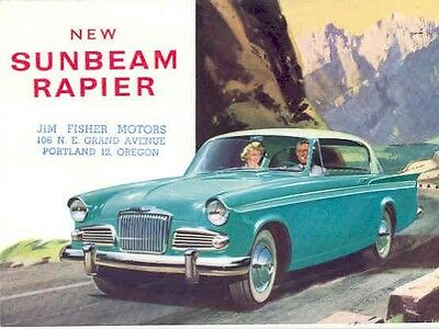 1961 Sunbeam Rapier Sales Brochure mw5377-LNO1AT