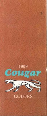 1969 Mercury Cougar Paint Colors Sales Brochure mw5739-WYIPJV