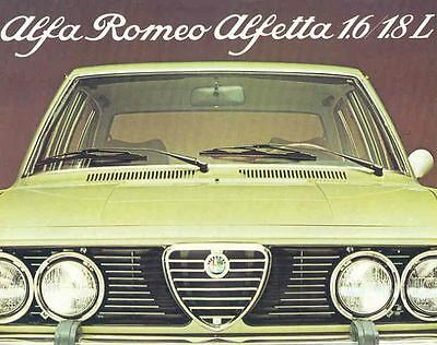 1976 Alfa Romeo Alfetta 1.6/1.8 L Sales Brochure mw6464-WE28CO