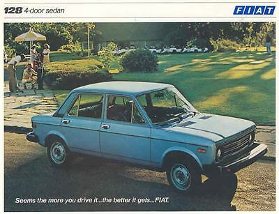1979 Fiat 128 4 Door Sedan Sales Brochure mw6814-MAPGWB