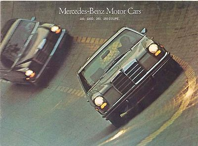 1970 Mercedes Benz 220 220D 250 & Coupe Sales Brochure mw7879-OXVGAJ