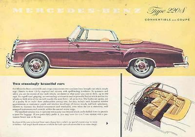 1956 Mercedes Benz Type 220S Convertible Coupe Brochure mw7963-CTOVB8