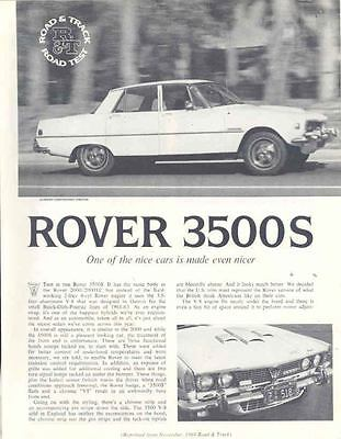 1969 Rover 3500S Sales Brochure mw8071-MNJWUH