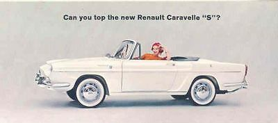 1963 Renault Caravelle S Coupe Convertible Brochure mw8765-AH9IMS