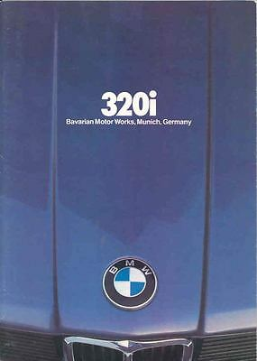 1982 BMW 320i Sales Brochure mw9291-L8RIEH