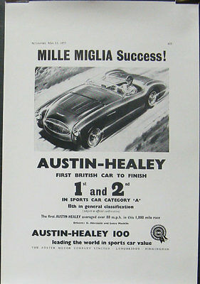 1955 Austin Healey 100 100-4 Race Car Poster Mille Miglia mw9680-34BFUC