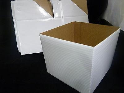 Coloured Boxes for gifts-25 Boxes 13cm sq - no lids **ONE COLOUR** WHITE