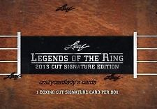 2013 Leaf Legends of the Ring Hobby Box Factory Sealed Boxing NIB New Autograph