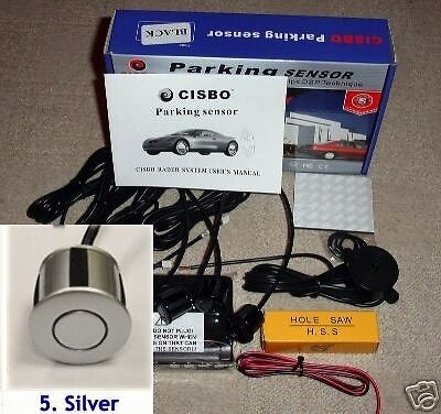 CISBO Parking Reversing Sensor 4 Sensors Audio  Buzzer in Silver colour