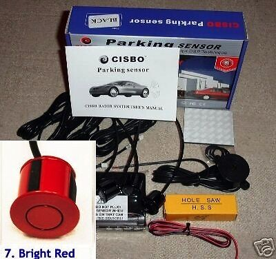 CISBO Parking Reversing Sensor 4 Sensors Audio  Buzzer in Bright Red colour