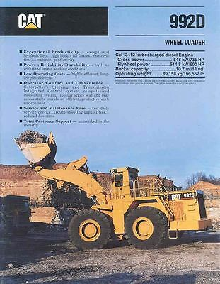 1993 Caterpillar 992D Construction Loader Brochure mw7395-9CMVHI