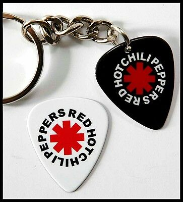 Red Hot Chili Peppers Two Sided Guitar Pick Keyring plus Pick