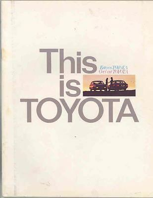 1973 Toyota Car Truck Prestige Corporate Brochure Factory Scenes wr7434-1G4VJK