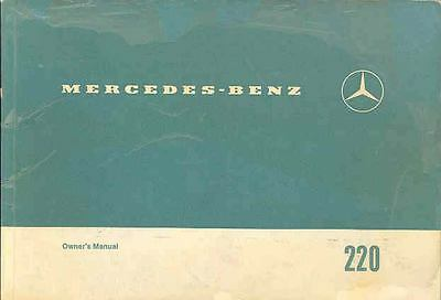 1971 Mercedes Type 220 Owner's Manual fo1132-UXSDIO