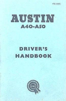 1957 Austin A40 and A 50 Owner's Manual fo115-7859K4