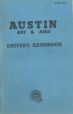 1960 Austin A95 and A105 Owner's Manual fo123-SJF2ZR