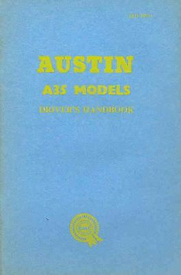 1960 Austin A35 Models Owner's Manual fo125-X7PD2S