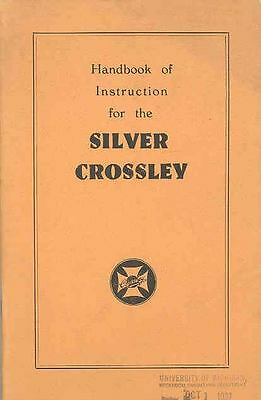 1931 Silver Crossley Owner's Manual fo248-WA8DDK