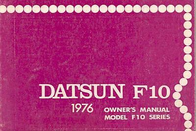 1976 Datsun F10 Owner's Manual fo283-CWINMX