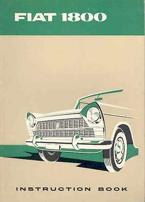 1959 Fiat 1800 Owner's Manual fo340-D1J3AS